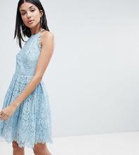 ASOS | Кружевное платье мини для выпускного ASOS DESIGN Tall - Розовый | Clouty