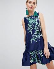 Closet London   Платье с баской Closet London - Темно-синий   Clouty
