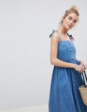 ASOS | Выбеленное джинсовое платье миди на пуговицах ASOS DESIGN - Синий | Clouty