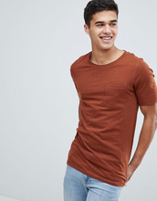 Selected Homme   Футболка с карманом Selected Homme - Оранжевый   Clouty