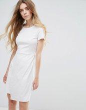 Vila | Платье с запахом из искусственной замши Vila - Кремовый | Clouty