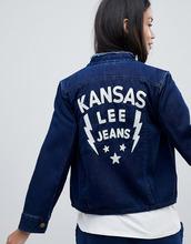 LEE | Джинсовая куртка без воротника с вышивкой Lee - Синий | Clouty