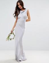 ASOS | Платье макси в стиле 40-х ASOS DESIGN Bridesmaid - Синий | Clouty