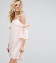 True Decadence | Платье мини с открытыми плечами и бантами на рукавах True Decadence Tall - Кремовый | Clouty