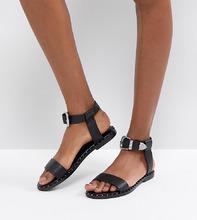 ASOS | Кожаные сандалии в стиле вестерн ASOS FAZ - Черный | Clouty
