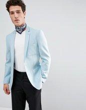 ASOS | Синий блейзер скинни из вафельной ткани ASOS - Синий | Clouty