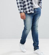 ASOS   Синие джинсы скинни плотностью 12,5 унции ASOS PLUS - Синий   Clouty