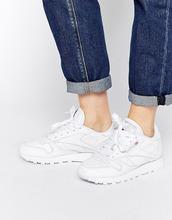 REEBOK | Классические белые кожаные кроссовки Reebok - Белый | Clouty