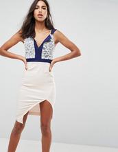 Vesper | Платье футляр миди с дизайном 2-в-1 и кружевной отделкой Vesper | Clouty