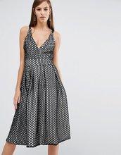8th Sign   Кружевное приталенное платье миди с v-образным вырезом The 8th Sign   Clouty
