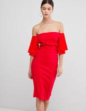 Vesper   Платье с широким вырезом и короткими рукавами Vesper - Красный   Clouty