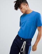 Weekday | Синяя футболка с выбеленным карманом Weekday - Синий | Clouty