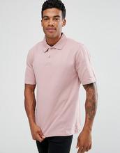 ASOS | Свободное поло из пике розового цвета ASOS - Розовый | Clouty