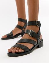ASOS | Кожаные сандалии ASOS WHITE - Черный | Clouty