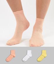 ASOS | Набор из 3 пар носков ASOS DESIGN - Мульти | Clouty