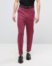 ASOS   Розовые супероблегающие брюки с завышенной талией и узором гусиная лап   Clouty