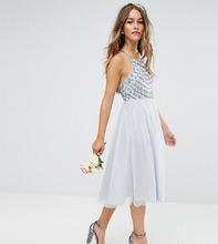 ASOS | Платье миди с бретельками на спине и отделкой бисером ASOS DESIGN Peti | Clouty