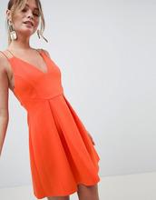 ASOS | Короткое приталенное платье на бретельках ASOS DESIGN - Красный | Clouty