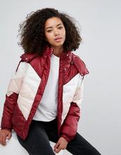 Monki | Дутая куртка в стиле колор блок Monki - Мульти | Clouty
