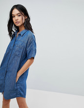 Blank NYC   Джинсовое платье-рубашка Blank NYC - Синий   Clouty