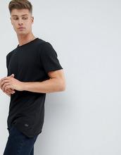 Produkt | Длинная футболка с необработанным асимметричным краем Produkt - Черный | Clouty