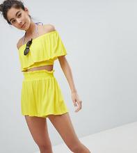 Monki | Пляжные шорты с завышенной талией Monki - Желтый | Clouty