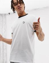 bershka | Белая футболка с контрастной окантовкой и принтом в стиле Микки Мауса Bershka - Белый | Clouty
