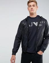 Armani Jeans | Трикотажный худи на молнии с большим орлом Armani Jeans - Серый | Clouty
