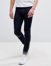 Religion | Супероблегающие стретчевые джинсы с заплатками Religion - Синий | Clouty