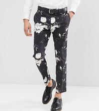 ASOS | Облегающие укороченные брюки с принтом ASOS TALL - Черный | Clouty