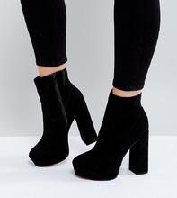 ASOS | Ботинки на платформе для широкой стопы ASOS ESCAPE - Черный | Clouty