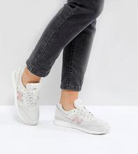 New Balance | Бело-золотистые кроссовки New Balance 697 - Белый | Clouty