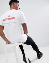Good For Nothing | Белая обтягивающая футболка с логотипом Good For Nothing - Белый | Clouty