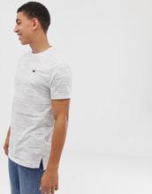 Hollister | Белая меланжевая футболка Hollister - Белый | Clouty