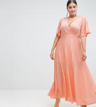 ASOS   Платье-кимоно макси с плиссировкой ASOS DESIGN Curve - Мульти   Clouty