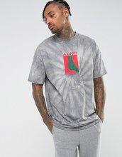 ASOS   Oversize-футболка с принтом тай-дай и надписью Unity ASOS - Синий   Clouty