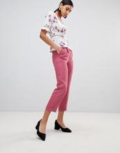 Fashion Union | Строгие брюки с завышенной талией Fashion Union - Розовый | Clouty
