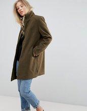 B.Young | Пальто с воротником-труба b.Young - Зеленый | Clouty