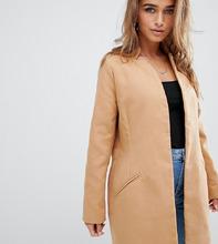 Missguided | Строгое бежевое пальто Missguided Petite - Коричневый | Clouty
