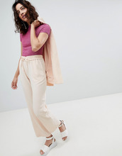 Monki | Прямые брюки Monki - Розовый | Clouty