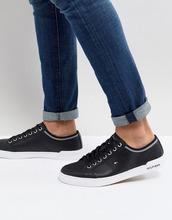 TOMMY HILFIGER | Черные кожаные кроссовки Tommy Hilfiger Core Corporate - Черный | Clouty