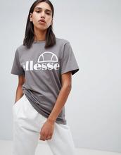 Ellesse | Футболка бойфренда с логотипом на груди Ellesse - Серый | Clouty