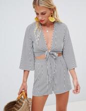 Glamorous | Пляжный комплект из рубашки и шортов в полоску Glamorous - Мульти | Clouty