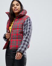 ASOS   Дутая oversize-куртка в клетку тартан ASOS DESIGN - Мульти   Clouty