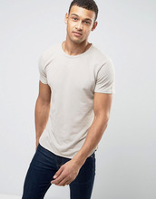 Selected Homme | Футболка из ткани пике с асимметричным краем Selected Homme | Clouty
