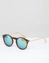ASOS | Круглые черепаховые солнцезащитные очки с металлическими дужками ASOS | Clouty