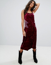 Anna Sui | Бархатное платье-комбинация миди Anna Sui - Мульти | Clouty