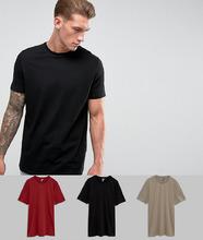 ASOS   3 длинных футболки с круглым вырезом ASOS - Скидка - Мульти   Clouty
