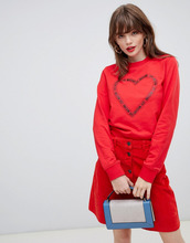 Love Moschino | Свитер с принтом сердца Love Moschino - Красный | Clouty