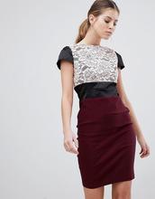 Vesper   Платье-футляр с кружевной вставкой Vesper - Фиолетовый   Clouty